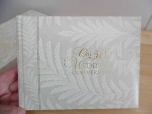 CR Gibson 50th Anniversary Guest & Gift Registry Book- Holds 500 Names-250 Gifts