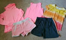 Girls Jr size 14/16 outfits shorts t-shirts coral Pink lot Pink hoodie lot Tank