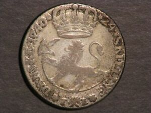 NORWAY 1740 24 Skilling Silver Fine