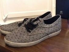Men's Gray with Black Polka Dots HUF Skate Shoes Size 10