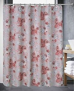 """Popular Bath Luxa Hotel Collection Shell 70"""" x 72"""" Shower Curtain - Coral Multi"""