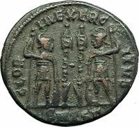 CONSTANTIUS II Constantine the Great son 330AD Ancient  Roman Coin Legion i75823