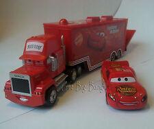 Disney Pixar Cars 1 No.95 Mack Racer's Truck & Lightning McQueen Auto Neu
