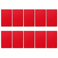 Heallily Red Metal Business Cards Blanks Aluminum Plaque Plate For Customer Diy