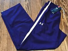 NWT  MENS UNDER ARMOUR ESSENTIAL WARMUP PANTS PURPLE LOOSE FIT SZ M $49.99