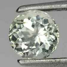 0.97 ct Rare Natural Round-cut Faint-Green VVS Oligoclase (Madagascar)