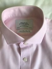 T.m lewin Homme Non-Fer Coupe Standard Blanc Popeline Double Manchette chemise