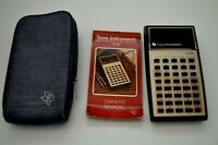 Vintage Texas Instruments TI-30 Electronic Slide Rule Calculator Case & Manual