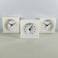 "Ikea Portable Alarm Clocks Lot of 3 VÃ""Ckis White 2.75"" x 2.75"" - 2 Clocks Sealed"