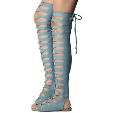 cape robbin jovena1 thigh high lace up shoe size 6