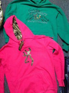 Green Cabelas Hoodie Large Reg Pink Deer Browning Hoodie S P Hunting