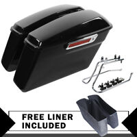 Saddlebags Saddle Bags W/ Conversion Brackets Fit For Harley Softail Heritage