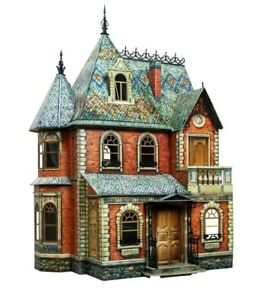 Victorian Doll House Dollhouse Miniature Scale 1:12 Model Kit Cardboard 3D