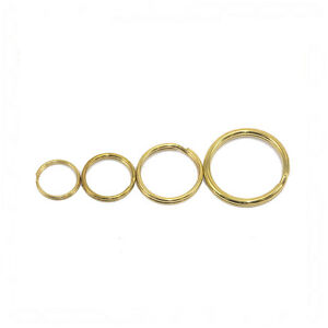 Steel Split Rings Brass Plated Finish Various Sizes 13mm-25mm Pack of 5 or 10