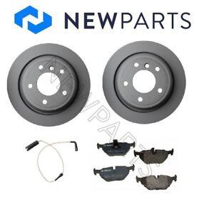 For BMW E39 525i 540i Sedan Rear Zimmermann Rotors Bosch Pads Bowa Sensors Kit