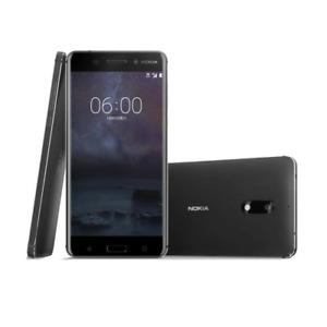 "Original Android Nokia 6 Dual SIM 64GB ROMC Black 4GB RAM 16MP Phone 5.5"""