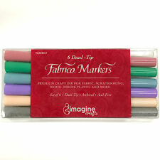 Fabrico Markers Dual Tip 6 Color Fabric Pen Set - Pastel PF-200-007