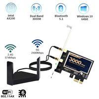 Intel WiFi 6 AX200 PCI-E WiFi Card 802.11AX Wireless Adapter Card Bluetooth 5.1