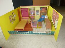 Vintage Barbie Furniture Dream House Cardboard With Furniture Accessories