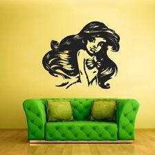 Wall Vinyl Sticker Bedroom Decal Sea Ocean Mermaid Girl Cartoon Nymph (Z2030)