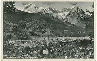 """D PARTENKIRCHEN, ca. 1930 gebr. s/w RP AK """"PARTENKIRCHEN mit Alp- und Zugspitze"""""""