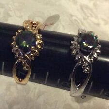 JewelScent Ring Size 7 or 8, Simulated Mystic Topaz, SG46 PLEASE SEE DETAILS