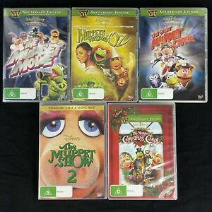 The Muppets 8-Disc 5x DVD Lot Great Caper, Wizard of Oz, Christmas, Muppet Movie