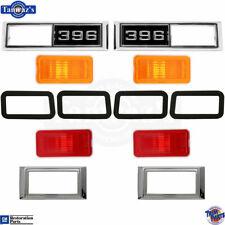 """68-69 Nova 68 Chevelle Side Marker Light Lamp Lens Bezel Gasket w/ Amber """"396"""""""