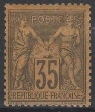 """FRANCE STAMP TIMBRE N° 93  """" SAGE 35c VIOLET-NOIR SUR JAUNE """" NEUF xx TTB  M974"""