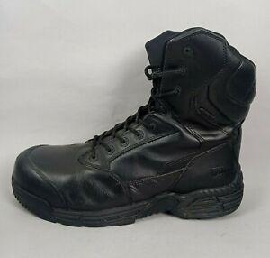 Magnum Mens Safety Boots UK 12 Black Leather Stealth Force Composite Toe