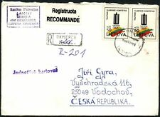 Lithuania 1994 Registered Cover To Czech Republic #C45052