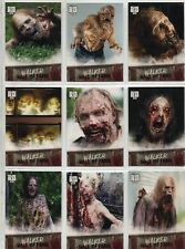 Walking Dead Road To Alexandria Complete Walker Chase Card Set W1-9