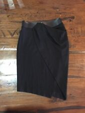 BNWT WITCHERY Women's Leather Waist Skirt-Size 8-Black-RRP$149.95