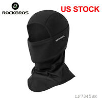 ROCKBROS Winter Thermal Face Mask Headwear Outdoor Sports Cap Black One Size US