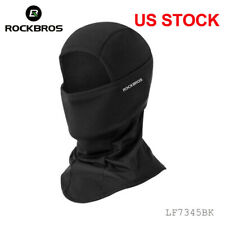 ROCKBROS Winter Face Mask Headwear Outdoor Sports Thermal Cap Black One Size US