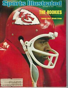1974 Sports Illustrated magazine football Woody Green, Kansas City Chiefs GOOD