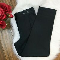 Fossil Women's High Waist Dressy Work Career Black Pants Size 6