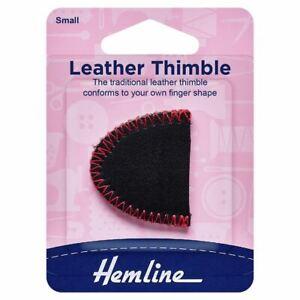 Hemline Thimble: Leather: Small