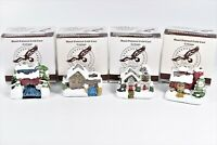 1989 Christmas Village House American Rustic Country Cottages Hand Painted Lot 4