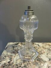 ANTIQUE 19TH CENTURY VICTORIAN EAPG LANTERN WHALE OIL LAMP ORIGINAL DOUBLE WICK