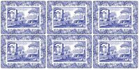 Pimpernel for Spode Blue Italian Placemats Set of 6