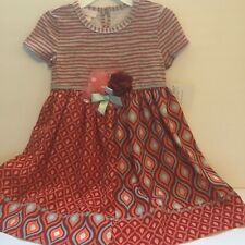 Bonnie Jean Toddler Girl 2T  Dress Red Boho Chic Short Sleeve New