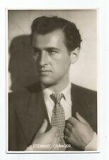 Card – Stewart Granger - English actor films/stage/TV - 1948 - excellent cond