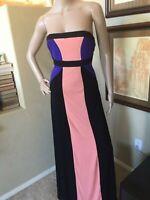 2B Bebe Womens Vertical Elongating Slimming Maxi Stretch Long Dress sz M