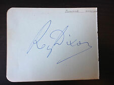 REG DIXON - CONFIDENTIALLY YOURS - COMEDY STAR - SIGNED VINTAGE ALBUM PAGE
