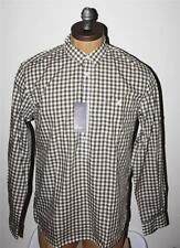 AUTH  Fred Perry Men's Gingham Smock 1/2 Button Front Shirt L