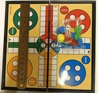 Traditional Ludo Board Game Kid Adult Family Fun Game Non Magnetic Travel Size