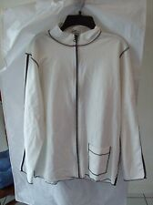Women's Black & White Zip Jacket w/Palm Tree Design from Spa by Chico's Size 1