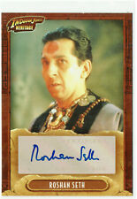 Indiana Jones Heritage 2008 Topps Autograph Card Roshan Seth as Chattar Lal