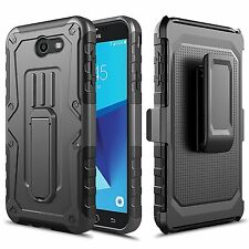 Samsung Galaxy J7 Prime / J727 Case, Impact Armor Kickstand Case with Belt Clip